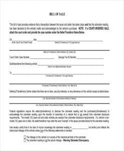 car bill of sale ga office furniture bill of sale