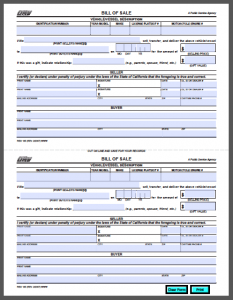 car bill of sale pdf california vehicle bill of sale form