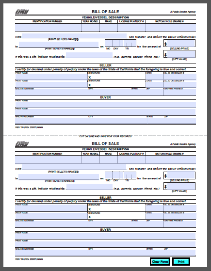 car bill of sale pdf
