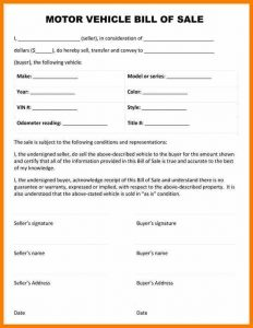 car bill of sale template motor vehicle bill of sale template bill of sale form ps
