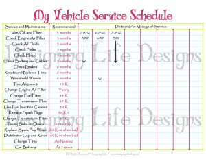 car maintenance schedule printable il fullxfull qpp