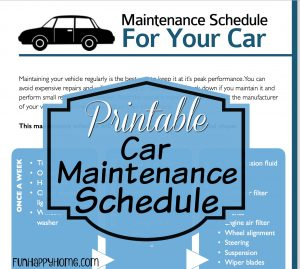 car maintenance schedule printable printable car maintenance schedule