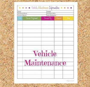 car maintenance schedule printable sample vehicle maintenance schedule information printable