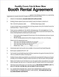 car rental agreement salon booth rental agreement weeklyplannerwebsite