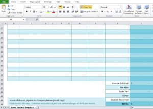 car sale receipt sales invoice spreadsheet excel template free download