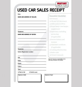 car sale receipt template car sale receipt template