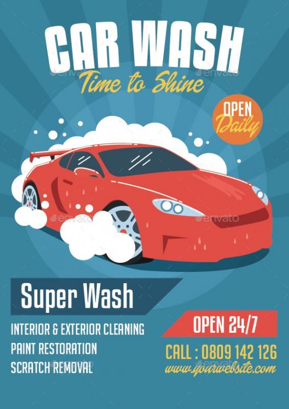 Car Wash Flyer  Passionx