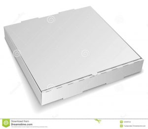 cardboard box template blank pizza box