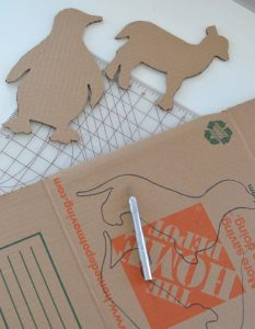 cardboard box template cartes animaux