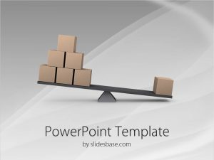 cardboard box template lost business abalnce swing todder boxes d find equal balance business powerpoint template slide