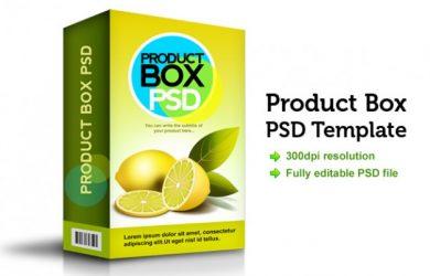 cardboard box template product box psd template
