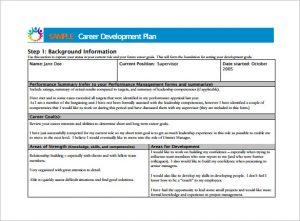 career development plan employee career development plan pdf template free download