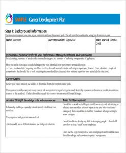 career development plan employee career development plan