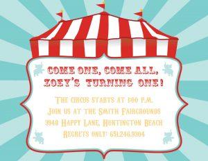 carnival invitation template circusinvite