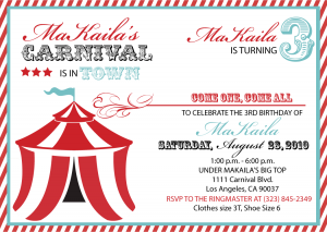 carnival invitation template teal carnival