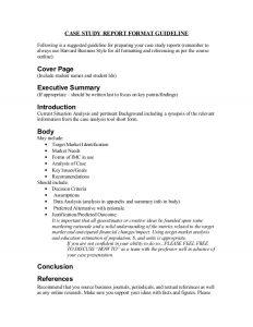 case study format case study reportformatguideline