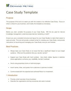 case study format case study template