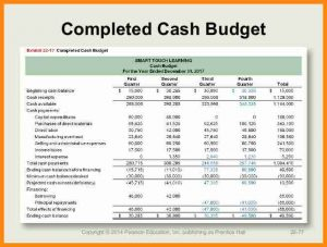 cash budget example cash budget example pdf accounting chapter cb