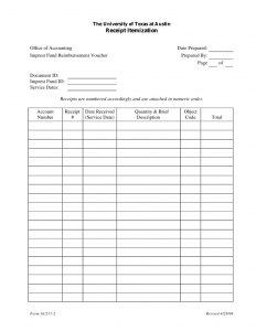 cash receipt template excel imprest fund management