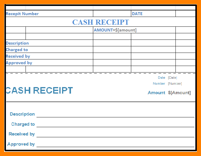 cash receipt template word