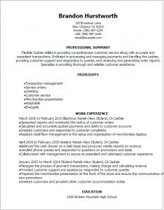 cashier resume sample cashier resume