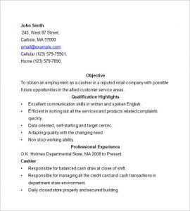 cashier resume sample cashier resume examples