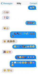 cat emoji text emoji storylc