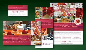 caterer business cards corporate event planner caterer business marketing graphic design