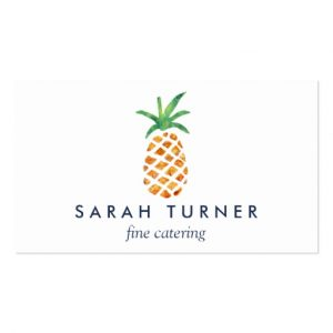 caterer business cards pineapple caterer hospitality standard business card rceaccabecebaf it byvr