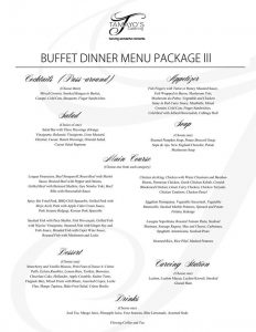 catering contract sample wedding package