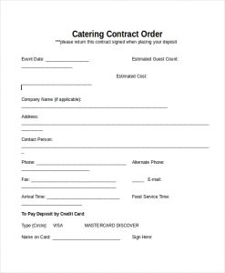 Catering contract design templates high quality catering contracts templates catering contract template altavistaventures Image collections