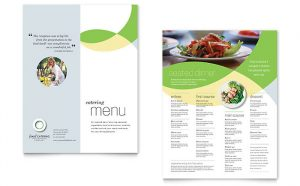 catering menu template fb s