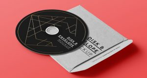 cd cover design template cd disk music envelope cover album brand mockup psd