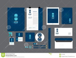 cd cover design template blue circle corporate identity template your business includes cd cover card folder ruler envelope letter