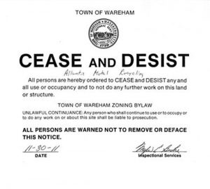 cease and desist harassment atlanticmetalrecycling cease & desist order