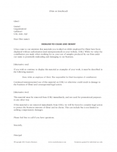 cease and desist letter template cease and desist template wiruit