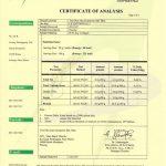 certificate of analysis coa (collagen)