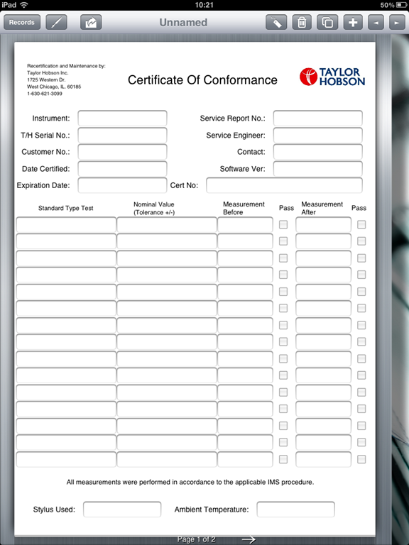 Certificate of compliance template template business for Certificate of conformance template