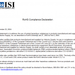 certificate of compliance template rohs declaration