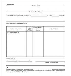 certificate of origin template origin certificate