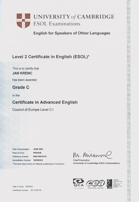certificate of translation