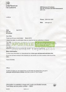 certificate of translation hmrc residence letter cover sheet