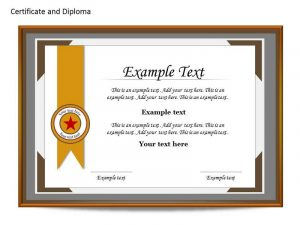 certificate template powerpoint slide