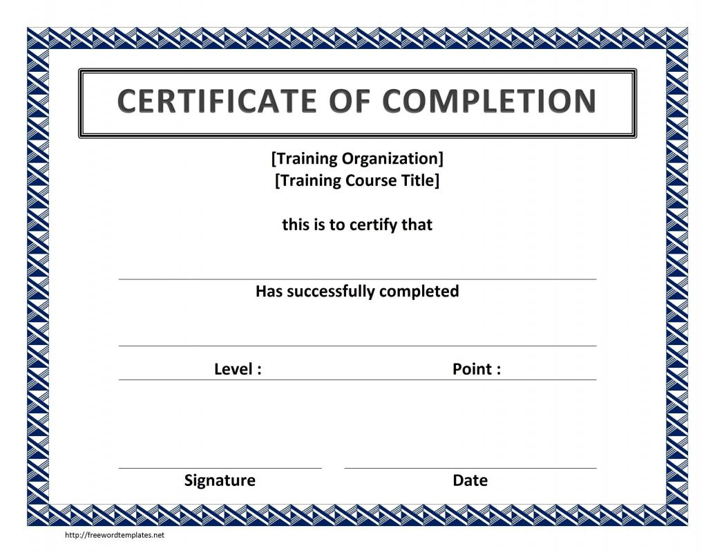 Certificate Template Word | Template Business
