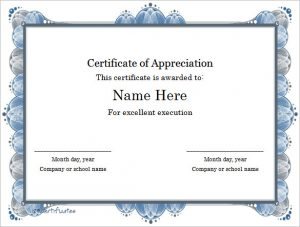 certificate template word excellent execution certificate template word format