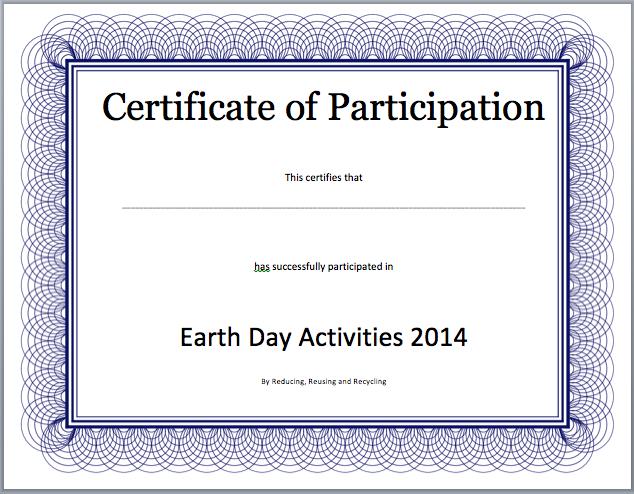 certificate template word