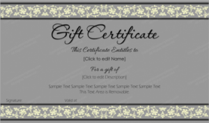 certificate templates for word printabe free gift certificate template word x