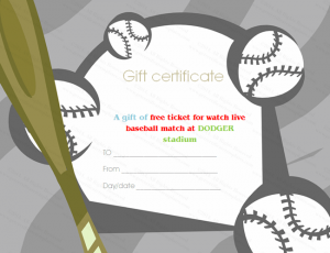 certificate templates free download baseball tickets gift certificate template
