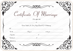 certificate templates free download wedding certificate template with traditional swirls