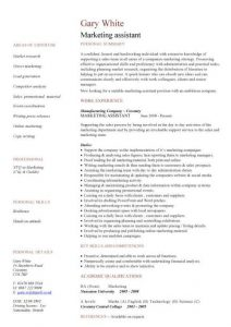certified medical assistant resume pic marketing assistant cv template